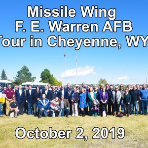 2 Oct 90th Missile Wing, F. E. Warren AFB, tour in Cheyenne, WY