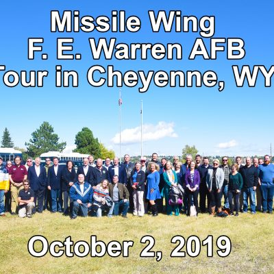 90th Missile Wing <br>F. E. Warren AFB <br>Tour in Cheyenne, WY <br>10-2-19