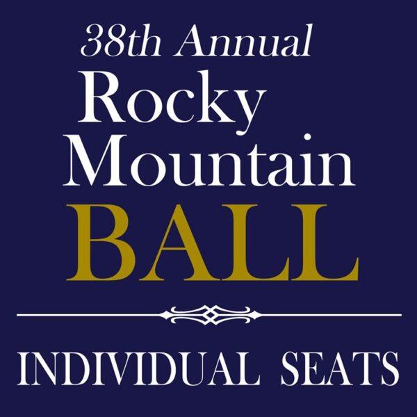 Rocky Mountain Ball - individual seats