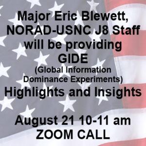 Major Eric Blewett Zoom